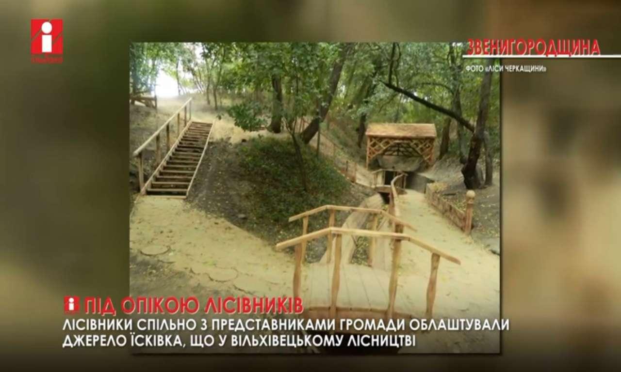 Звенигородські лісівники облаштували джерело Їсківка (ВІДЕО)