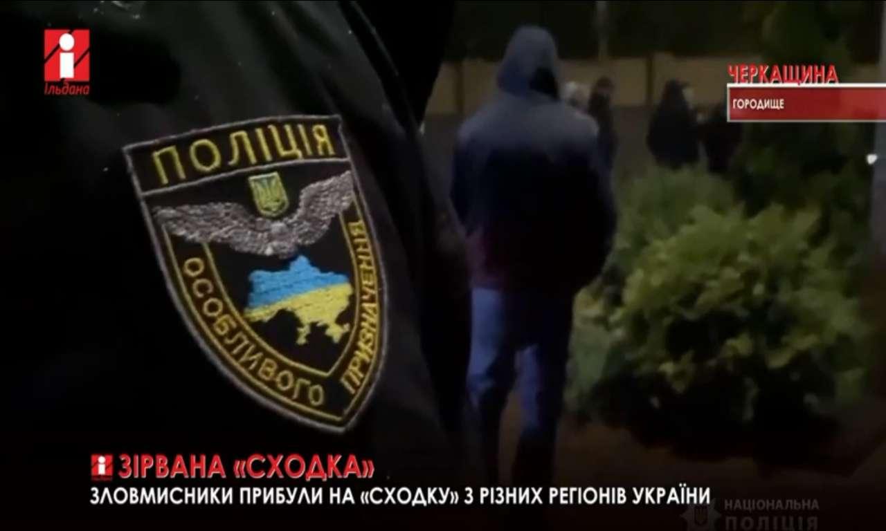 Правоохоронці зірвали кримінальну «сходку» у Городищі (ВІДЕО)