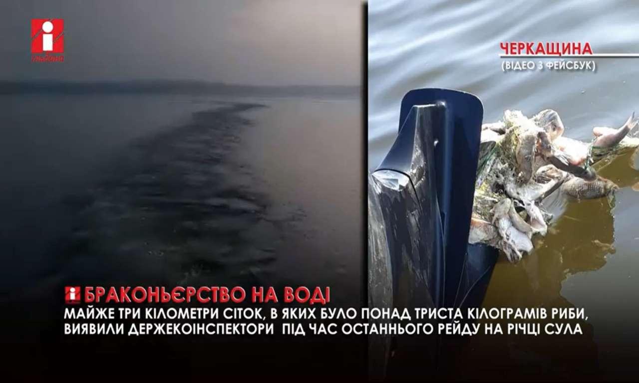 Понад триста кілограмів риби виявили під час останнього рейду на річці Сула