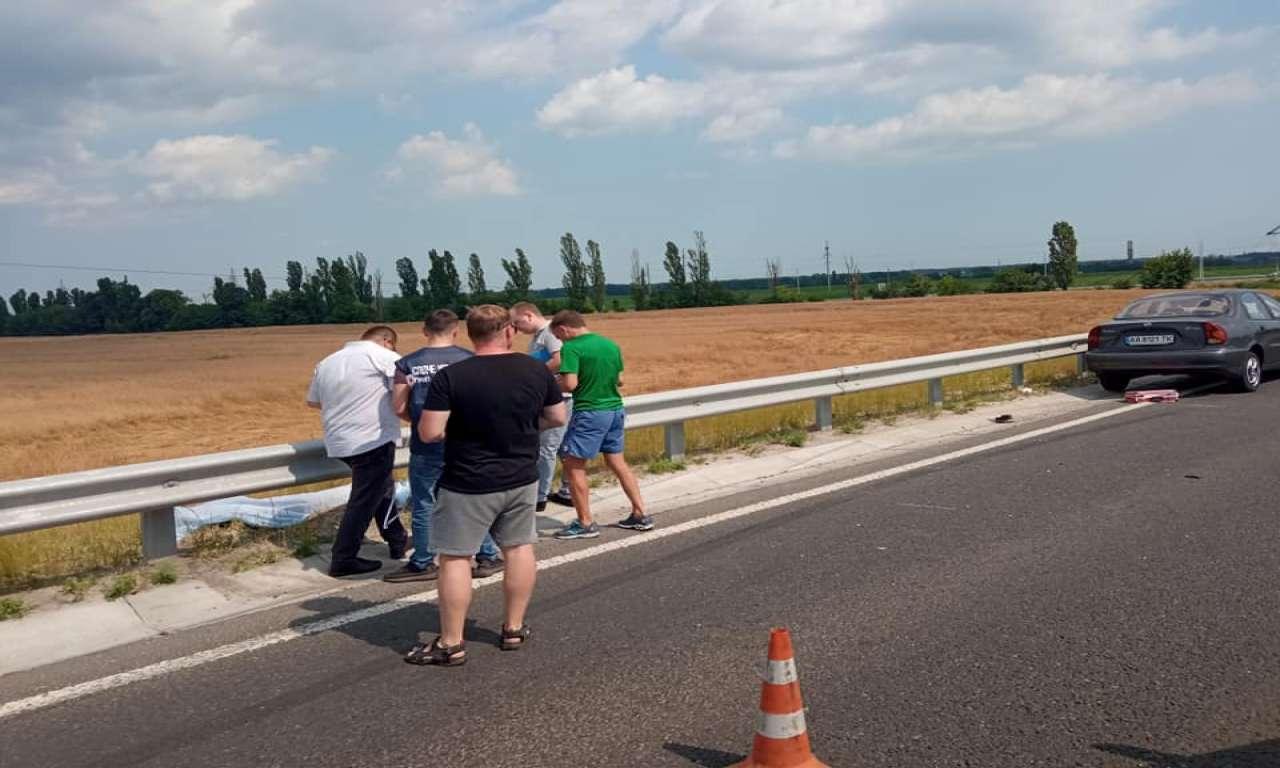 На трасі поблизу Золотоноші насмерть збили велосипедиста (ФОТО)