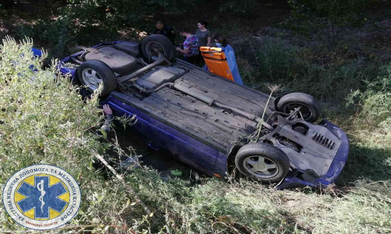 Поблизу Благодатного знову аварія: двох людей госпіталізовано