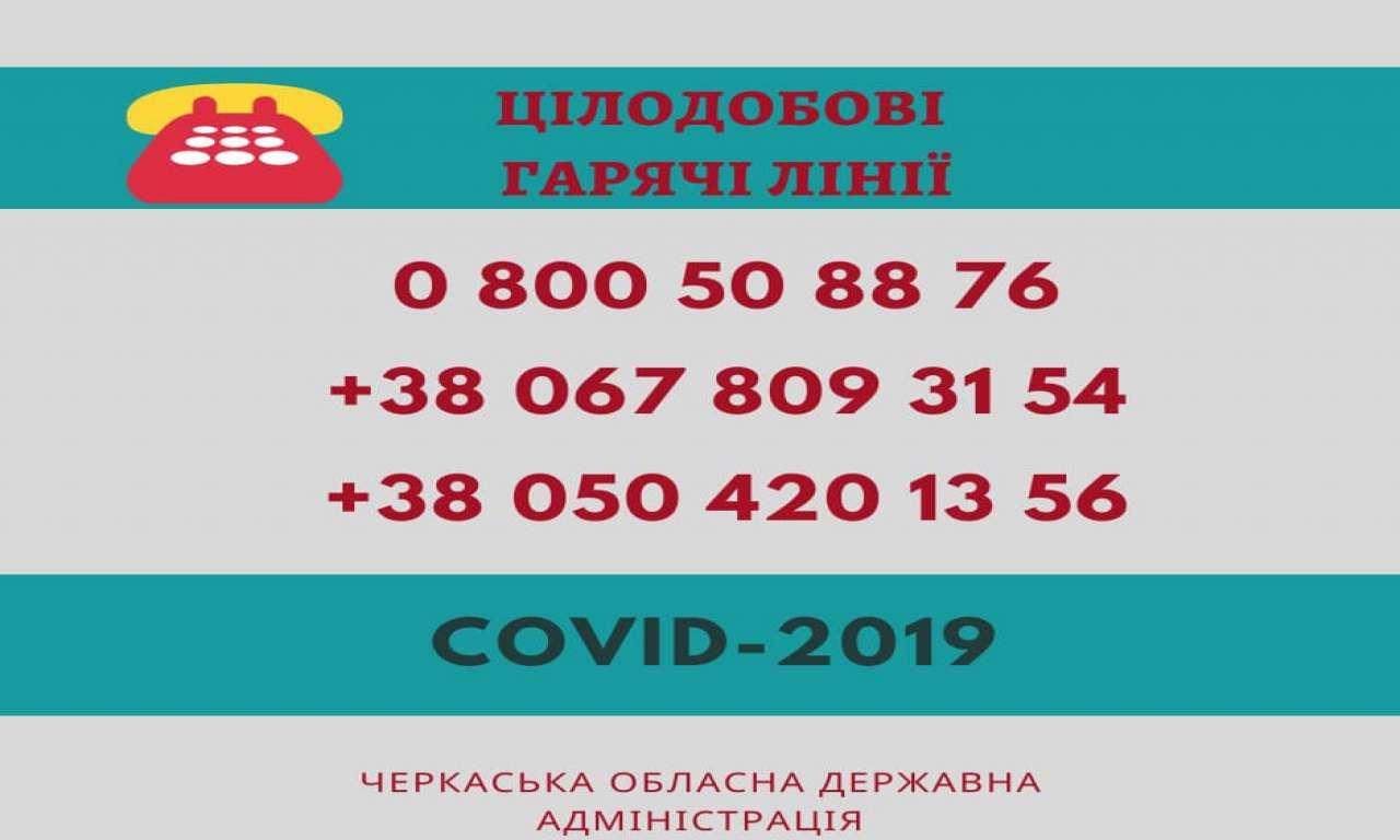 Перший лабораторно підтверджений випадок інфікування COVID-2019 і на Черкащині