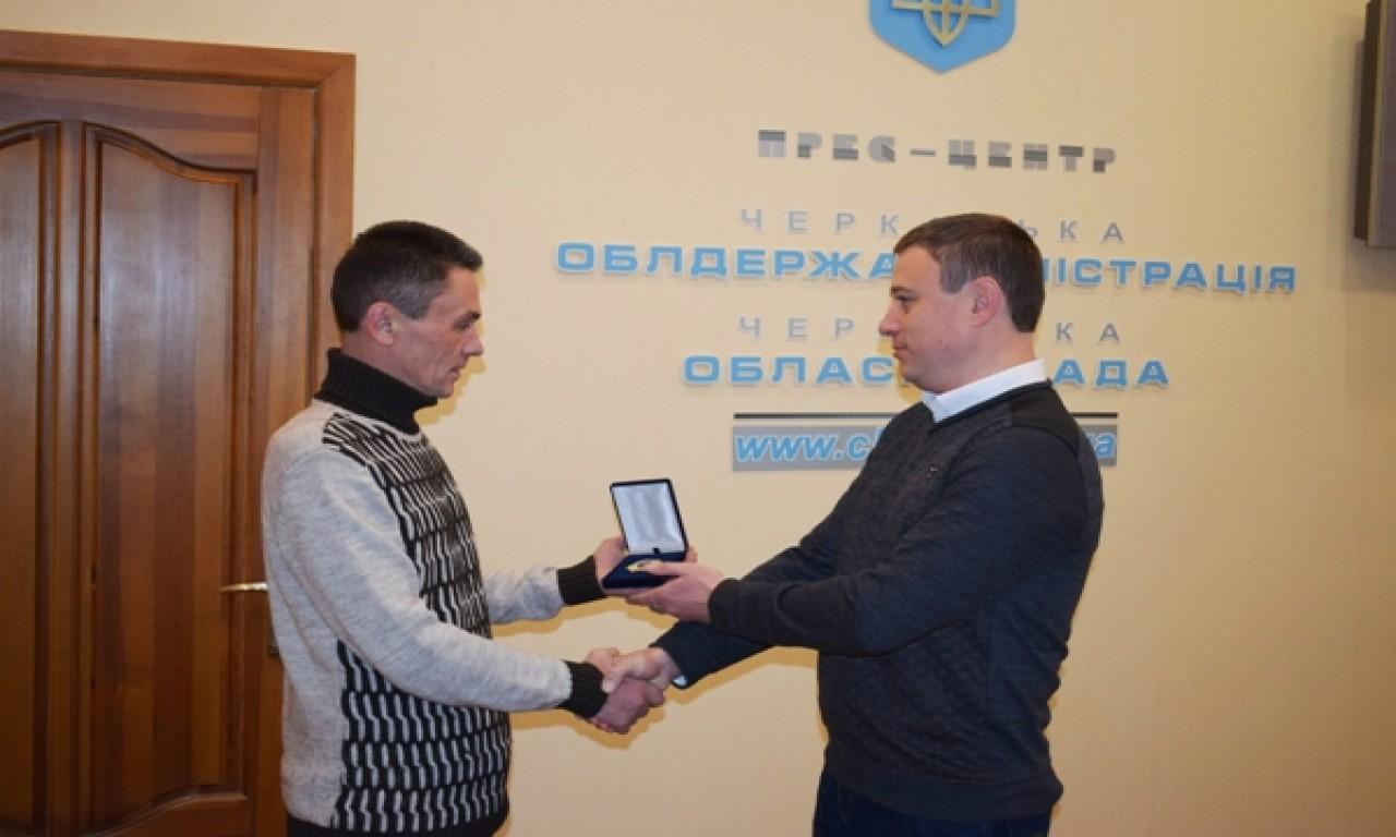 Учасник АТО зі Шполянщини отримав відзнаку «Холодний Яр»