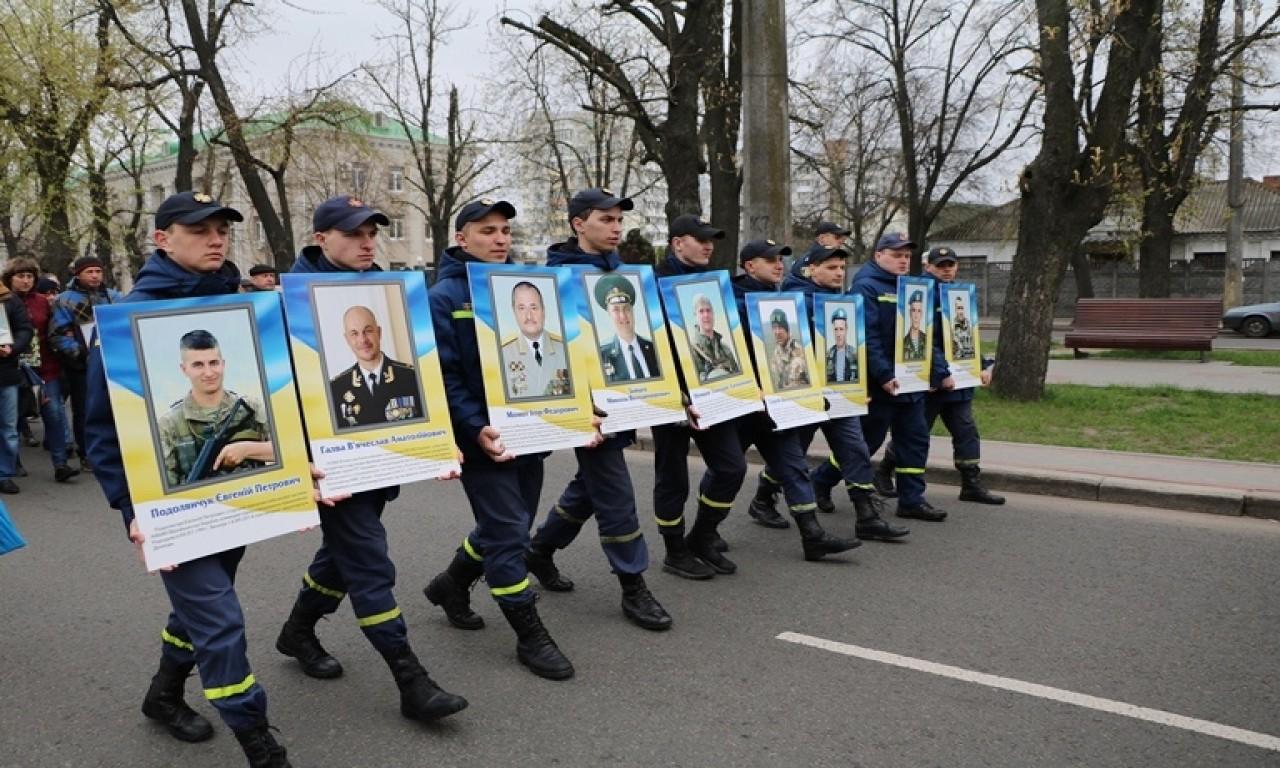 Черкаси вшанували своїх героїв - учасників сучасної війни-295
